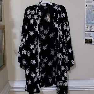 Brand new black and white floral cardigan